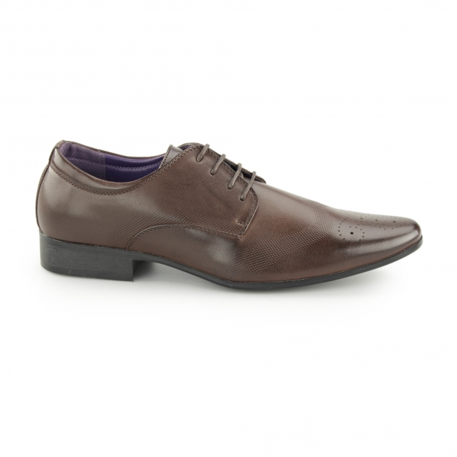 Charles Southwell CROMPTON Mens Pointed Brogues Brown