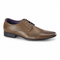 CROMPTON Mens Pointed Brogues Tan