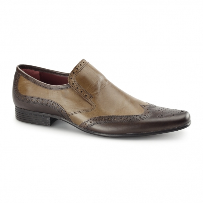 Red Tape CULLEN Mens Leather Brogues Brown/Tan