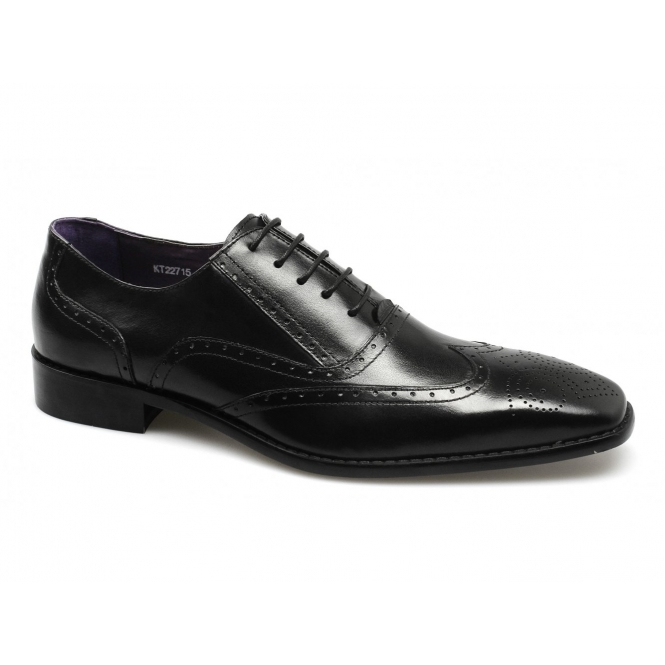 Gucinari CURT Mens Leather Brogue Formal Shoes Black