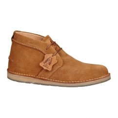 CURTIS Mens Suede Desert Boots Tan