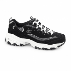 D-LITES-ME TIME Ladies Retro Sports Trainers Black/White