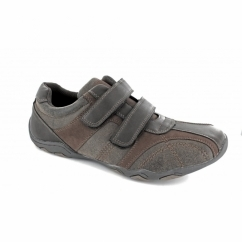 DALE Mens Casual Velcro Trainers Waxy Brown