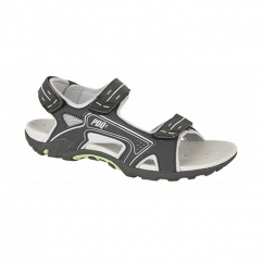 DAN Mens PU Velcro Sports Sandal Black/Lime