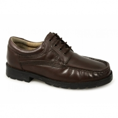 DANE Mens Lace-Up Apron Gibson Shoes Brown