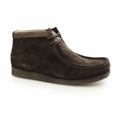 DAVENPORT HIGH Mens Suede Boots Chocolate