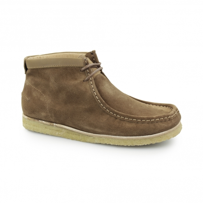 Hush Puppies DAVENPORT HIGH Mens Suede Boots Tan