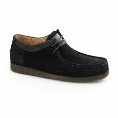 DAVENPORT LOW Mens Suede Shoes Black