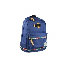 DECO LINES Unisex Backpack Navy