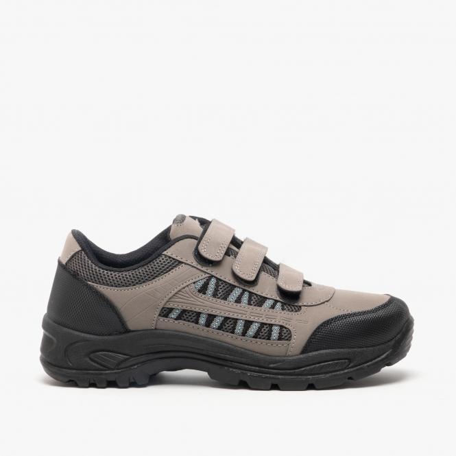 Womens Ladies Velcro Hiking Shoes Grey