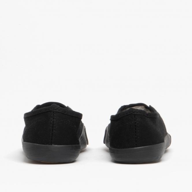 Mirak Girls Textile Plimsoll Sneaker Shoe Boxed White Med