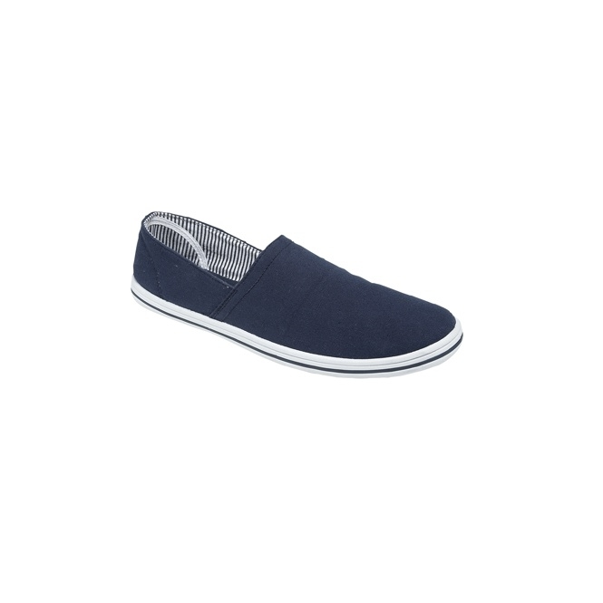 DEK ROSS Unisex Canvas Denim Casual Plimsolls Navy