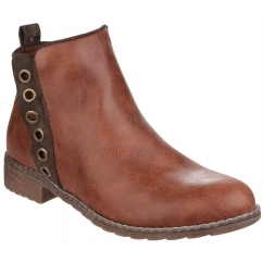 DEMI Ladies Ankle Boots Tan