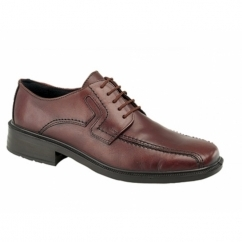 DENNIS Mens Leather Waterproof Tramline Shoes Brown