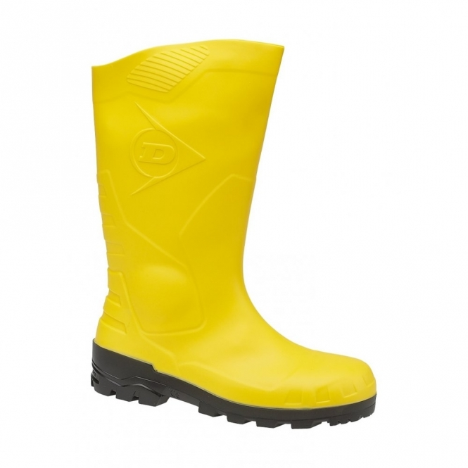 Dunlop DEVON Unisex Steel S5 SRA Safety Wellington Boots Yellow