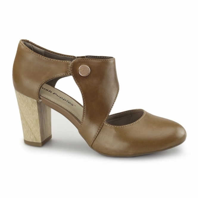 Hush Puppies DEVYNN SISANY Ladies Heeled Shoes Tan