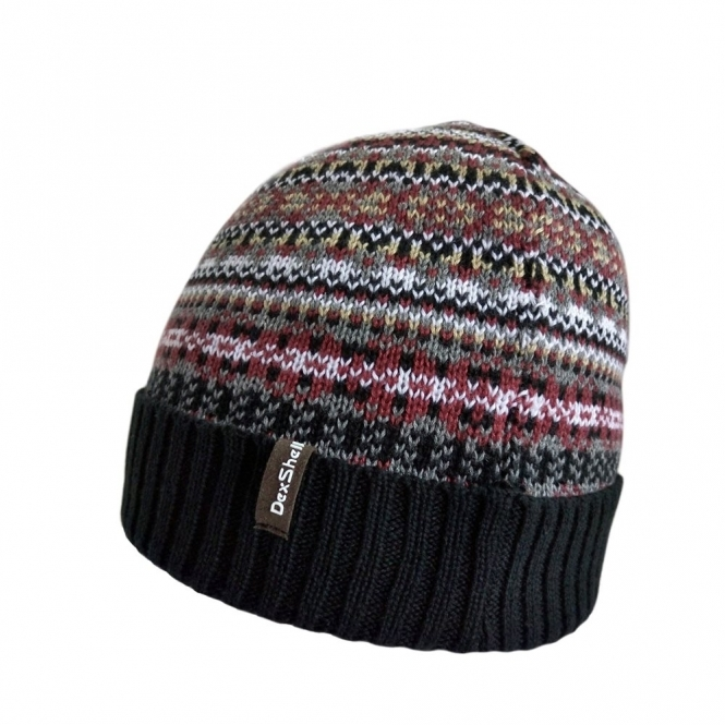 DexShell FAIR ISLE Unisex Waterproof Beanie Hat Bohemian Black 721e6b588db