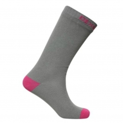 DexShell ULTRATHIN Unisex Ankle Waterproof Socks Grey/Pink