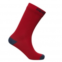 DexShell ULTRATHIN Unisex Ankle Waterproof Socks Red/Navy