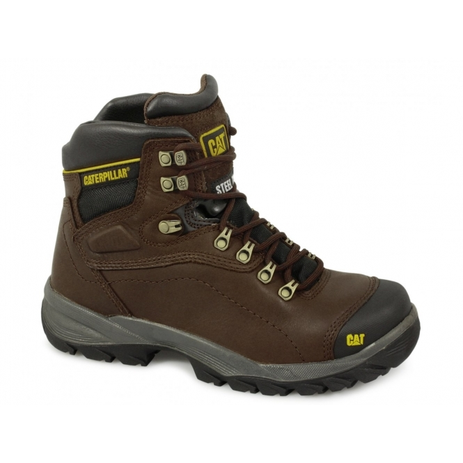 Cat ® DIAGNOSTIC Mens S3 HRO SRC Safety Boots Brown