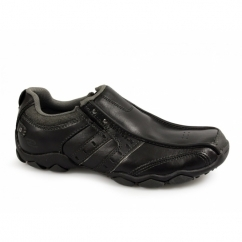 DIAMETER HEISMAN Mens Slip-On Leather Shoes Black