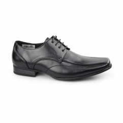 DIETER Mens Faux Leather Chisel Toe Gibson Shoes Black