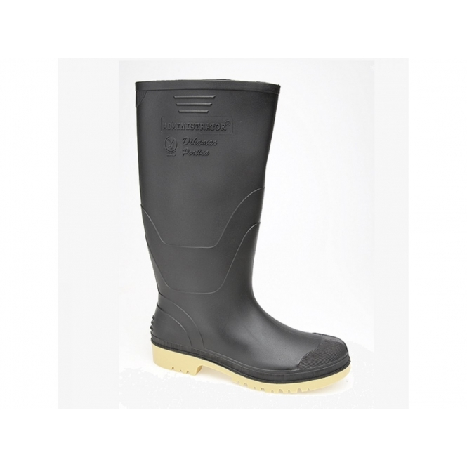 Dikamar ADMINISTRATOR Mens Gents Wellington Boots Black