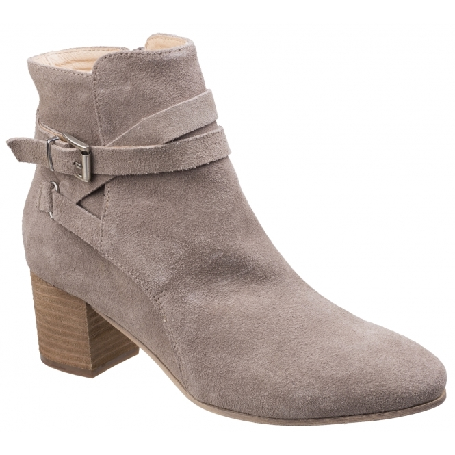 Divaz ARIANNA Ladies Autumn Winter Modern Inside Zip Suede Ankle Boots Taupe