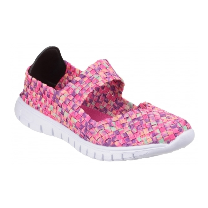 Divaz DRIFT Ladies Woven Mary Jane Shoes Light Pink