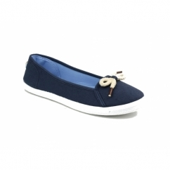 LOPEZ Ladies Canvas Ballerina Plimsolls Navy