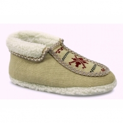 NORWAY Ladies Boot Slippers Beige