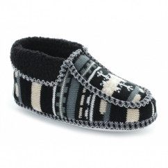 NORWAY Ladies Boot Slippers Black