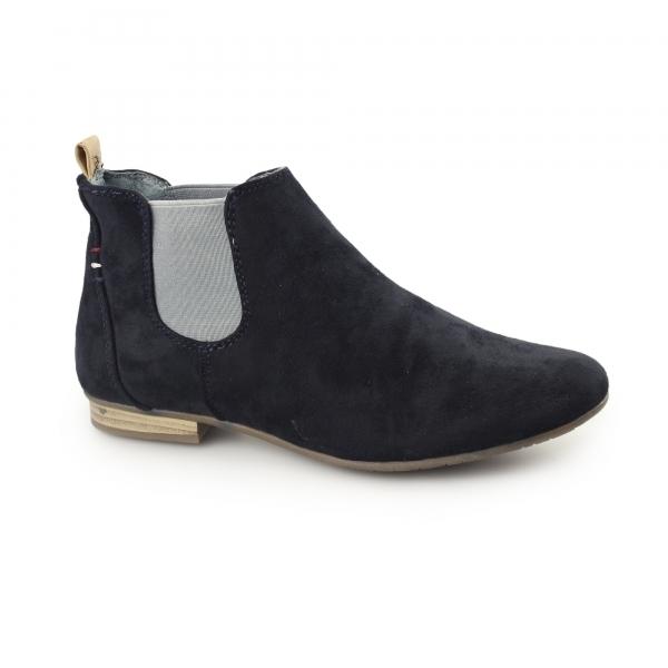 divaz pisa faux suede chelsea boots navy shuperb
