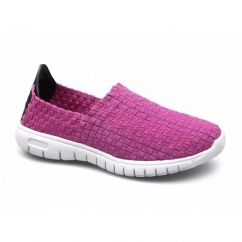 RAFT Ladies Slip-On Walking Trainers Fuchsia