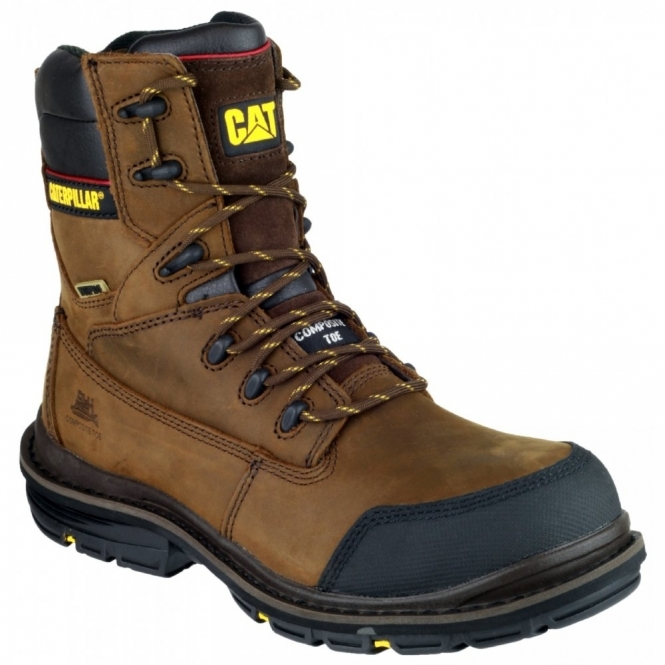 Cat ® DOFFER Mens Waterproof Safety Boots Brown