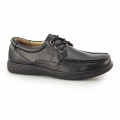 ALBERT Mens Lace Up Wide Fit Shoes Black