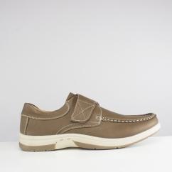 Dr Keller Mens Mens Wide Fit Slip On Canvas Shoe Beige