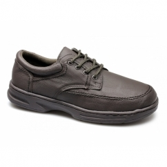 BRIAN Mens Leather Lace Up Wide Fit Shoes Brown