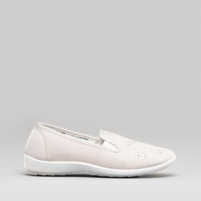 bf57c95e478 Dr Keller CONNIE Ladies Wide Fit Slip On Loafer Shoes Beige