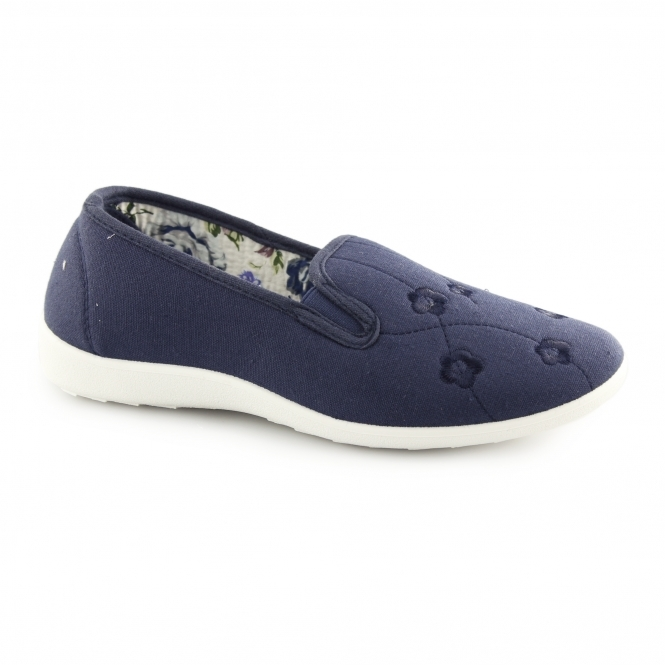 580605b4a4c Dr Keller CONNIE Ladies Wide Fit Slip On Loafer Shoes Navy