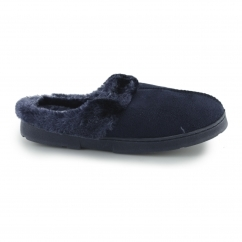 DECATOR Ladies Soft Mule Slippers Navy