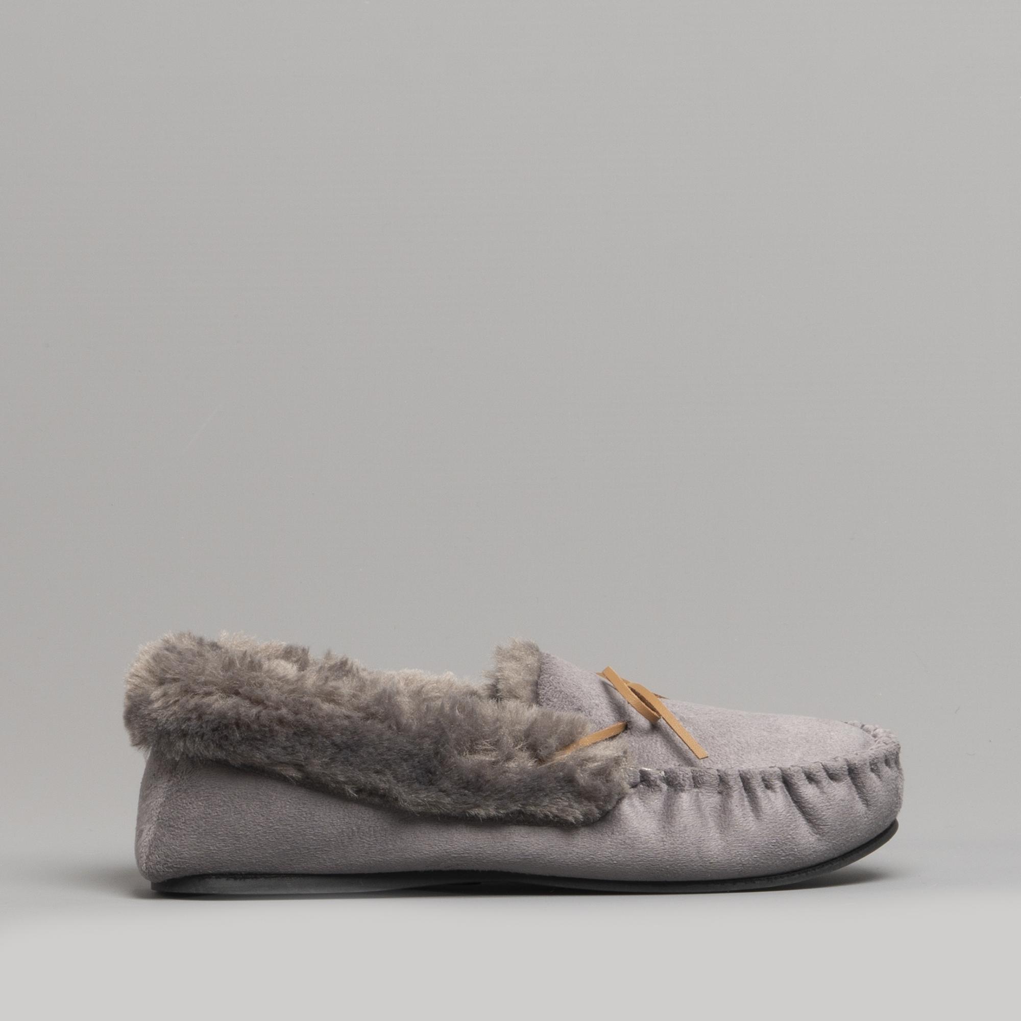 9100eaaf678 Dr Keller ELOISE Ladies Moccasin Slippers Grey