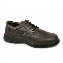 FREDDY Mens Lace Up Lightweight Extra Fit Shoes Brown