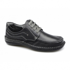 JUPITER Mens Leather Lace Up Shoes Black
