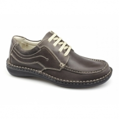JUPITER Mens Leather Lace Up Shoes Brown