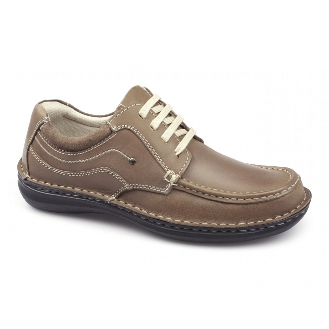 Dr Keller JUPITER Mens Leather Lace Up Shoes Tan