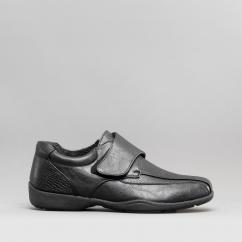a2091e1302e Dr Keller MARIE Ladies Touch Fasten Warm Lined Shoes Black