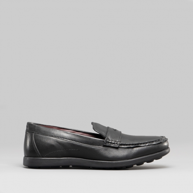 Dr Keller Rick Full Fit Smart Comfort Padded Slip On Loafers Shoes Black