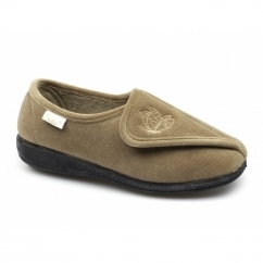 WANDA Ladies Full Slippers Tan