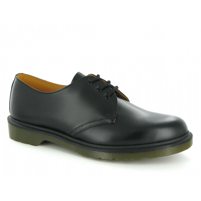 Dr Martens 1461 Unisex Classic 3 Eyelet Uniform Shoes Black